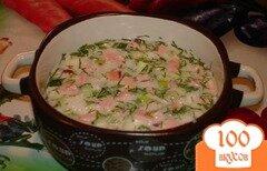 Фото рецепта: «Окрошка по Южно-Сахалински»