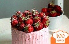 Фото рецепта: «Клубнично-лимонный торт»