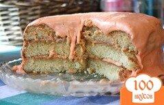 Фото рецепта: «Торт мандариновым кремом»