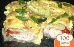 Фото рецепта: «Капустные рулеты с куриным филе»