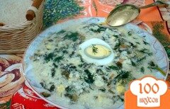 Фото рецепта: «Щавелевый деревенский суп»