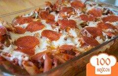 Фото рецепта: «Запеченная паста с мясом и сыром»