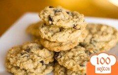 Фото рецепта: «Овсяное печенье с изюмом»