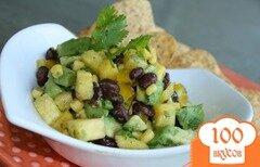 Фото рецепта: «Сальса с авокадо и ананасом»