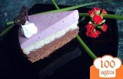 Фото рецепта: «Торт «Тримирье» с черносмородиновым баваруа.»