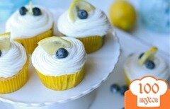 Фото рецепта: «Лимонные кексы с черникой»
