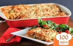 Фото рецепта: «Запеканка из спагетти с сыром»