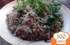 Фото рецепта: «Бухарский рис с зеленью и говядиной»
