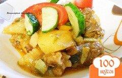 Фото рецепта: «Рагу из овощей с колбасками»