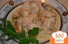 Фото рецепта: «Курица с грибами в мультиварке»