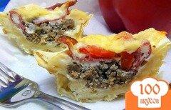 Фото рецепта: «Корзиночки из лаваша с омлетом. Ещё одна идея для субботнего завтрака.»