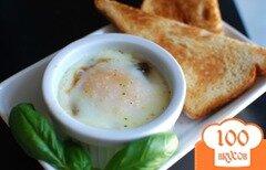 Фото рецепта: «Яйца кокот с грибами»