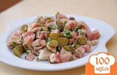 Фото рецепта: «Закуска «Грибы с колбасой»»