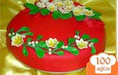 """Фото рецепта: «Торт """"Зимние цветы""""»"""