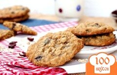 Фото рецепта: «Овсяное печенье с клюквой»