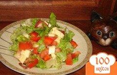 Фото рецепта: «Витаминный салат с сыром»