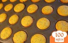 Фото рецепта: «Лимонные маффины с маком»