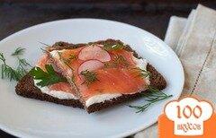 Фото рецепта: «Бутерброды с копченым лососем»