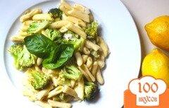 Фото рецепта: «Паста с брокколи в лимонном соусе»