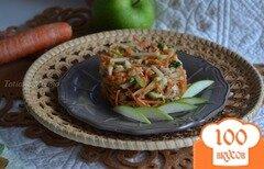Фото рецепта: «Морковный салат с куриным мясом и яблоком»