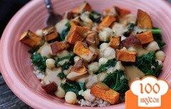 Фото рецепта: «Рис с капустой кале и сладким картофелем»