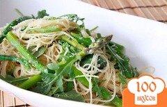 Фото рецепта: «Салат из пасты со спаржей и рукколой»