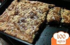 Фото рецепта: «пирог с консервированной сайрой»