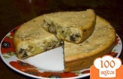 Фото рецепта: «Наливной пирог с грибами»