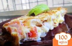 Фото рецепта: «Омлет с помидорами и сыром»