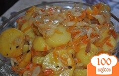 Фото рецепта: «Картофель в рукаве с красным перцем»