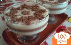 Фото рецепта: «Слоеное молочно-шоколадное желе»
