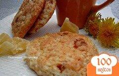 Фото рецепта: «Творожные лепешки с цукатами из ананаса»