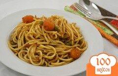 Фото рецепта: «Спагетти с овощами в томатном соусе»