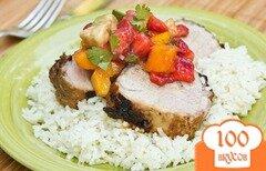 Фото рецепта: «Свинина на гриле с клубничной сальсой»