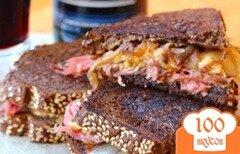 Фото рецепта: «Сандвичи с говяжьей солониной и сыром»