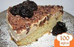 Фото рецепта: «Творожно - бисквитный торт с черносливом»