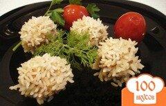 Фото рецепта: «Рисовые ёжики с мясом»