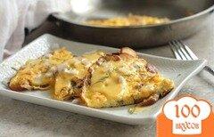 Фото рецепта: «Картофельная фриттата с голландским сырным соусом»