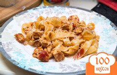 Фото рецепта: «Макароны (паста) с курицей в томатном соусе»