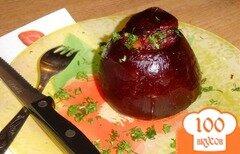 Фото рецепта: «Свекла, фаршированная рисом и овощами»