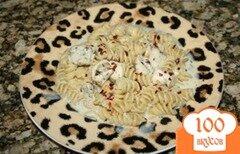 Фото рецепта: «Макароны с курицей и сыром чеддер»