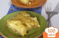 Фото рецепта: «Ананасовый пирог на оливковом масле»