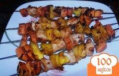 Фото рецепта: «Куриный шашлык с манго и папаей»