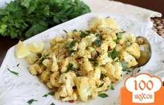 Фото рецепта: «Цветная капуста с йогуртом и специями»