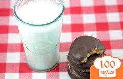 Фото рецепта: «Арахисовое печенье Палео в шоколаде»