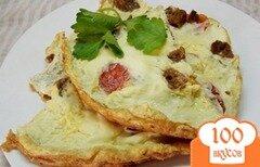 Фото рецепта: «Яйца с гренками и помидорами»
