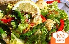Фото рецепта: «Салат из спаржи с грибами»