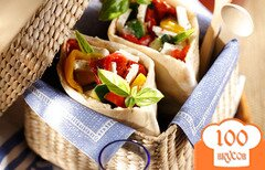 Фото рецепта: «Овощи с Фета в лаваше»