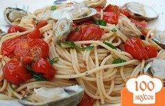 Фото рецепта: «Спагетти с мидиями и помидорами»