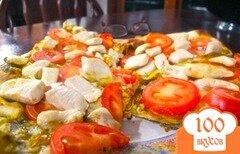 Фото рецепта: «Пицца с курицей и томатами»